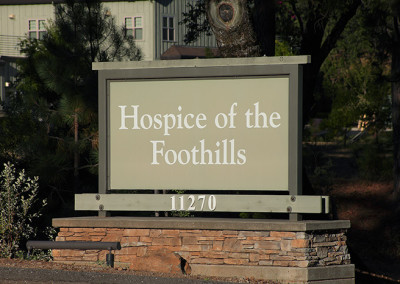Hospice of the Foothills Signage