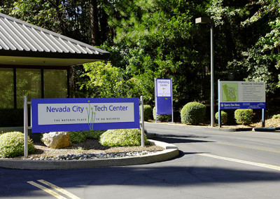 Nevada City Tech Center Signage