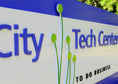 NC Tech Center Exterior Signage