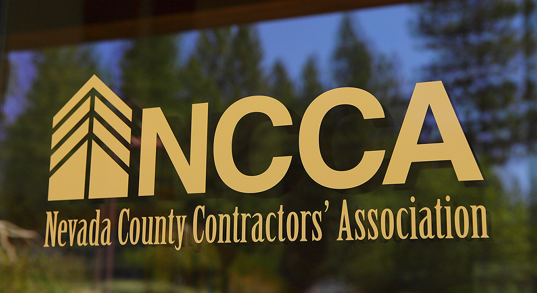 NCCA Signage on Glass Entry