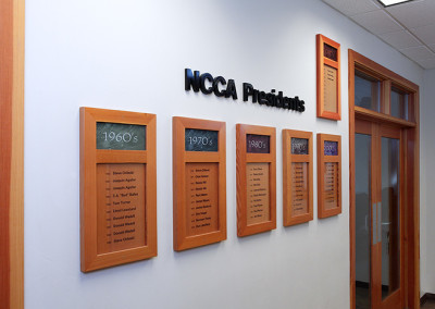 NCCA Interior Presidents Plaques