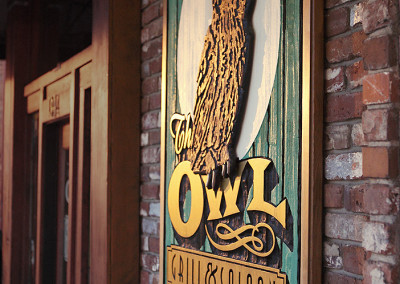 The Owl Tavern Exterior Signage