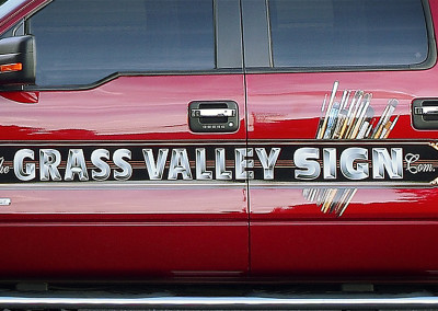 Grass Valley Sign Co. Truck Signage