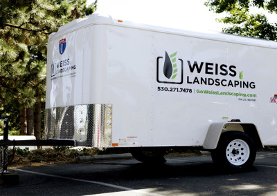 Weiss Landscaping Vehicle Signage