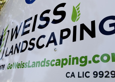 Weiss Landscaping Auto Signage